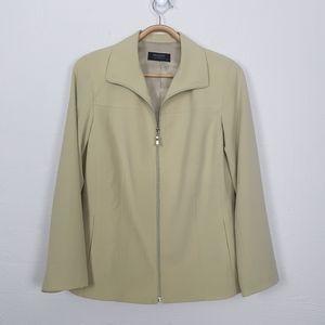 PHILOSOPHY Womens Size 12 Jacket Deep Cream Zip Front